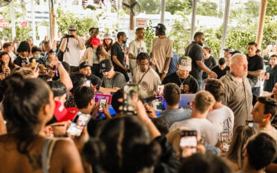 Travis Scott at The Wharf Miami For Cacti Agave Spiked Seltzer